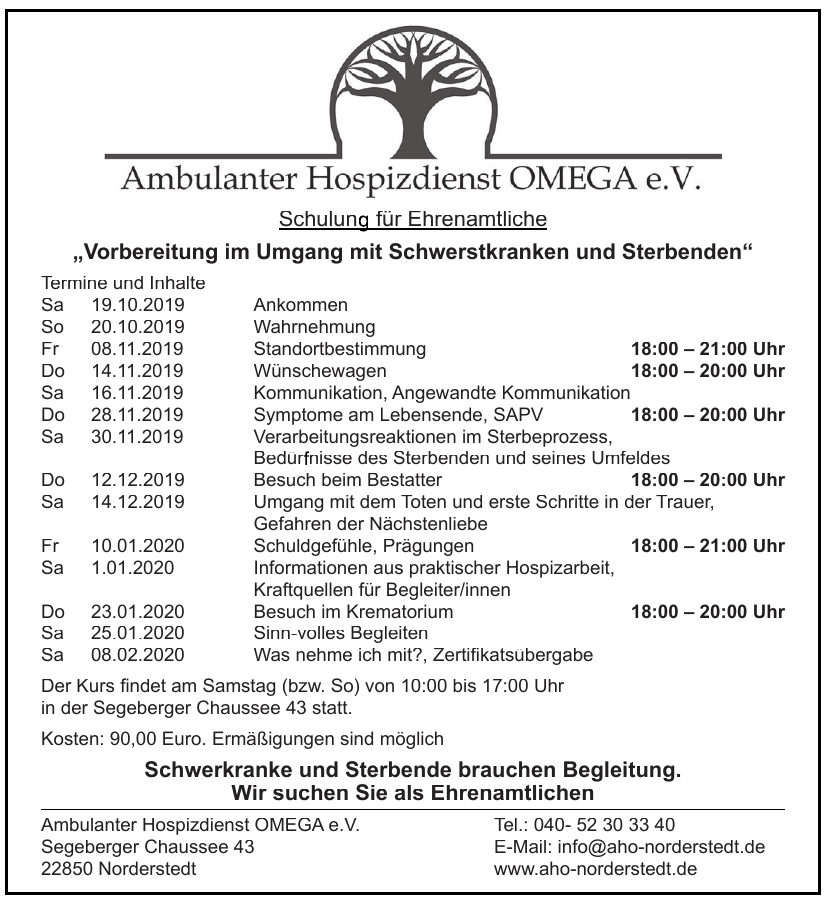 Ambulanter Hospizdienst Omega e.V.