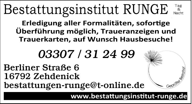 Bestattungsinstitut Runge