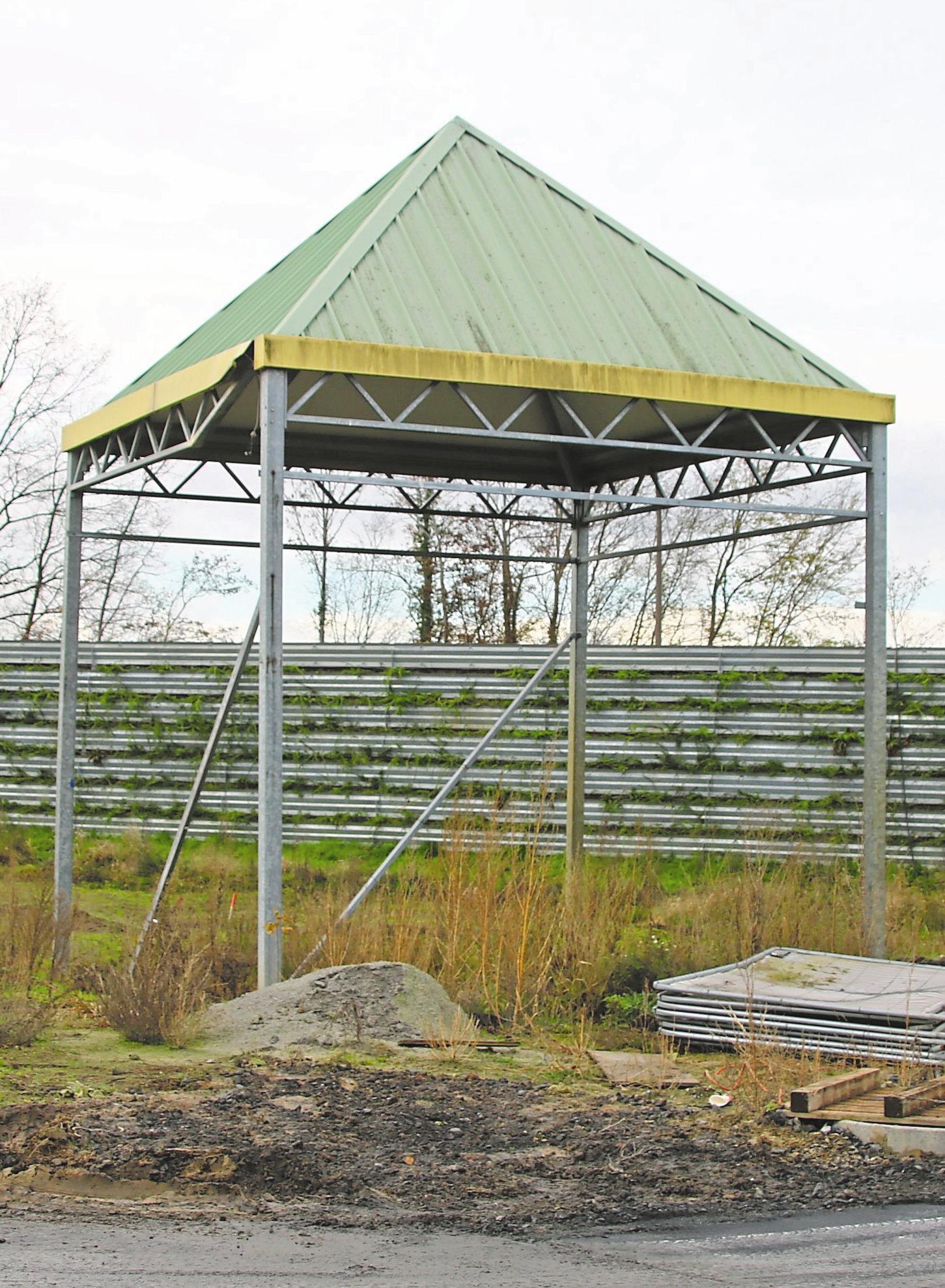 Das markante grüne Gärtnereidach steht noch – als Symbol für die Namensgeberin des Baugebiets