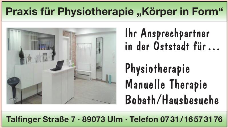 Praxis für Physiotherapie - Körper in Form