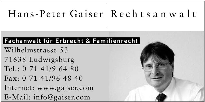Hans-Peter Gaiser Rechtsanwalt