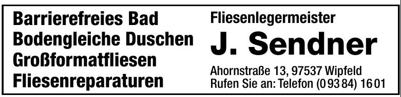 Fliesenlegermeister J. Sendner