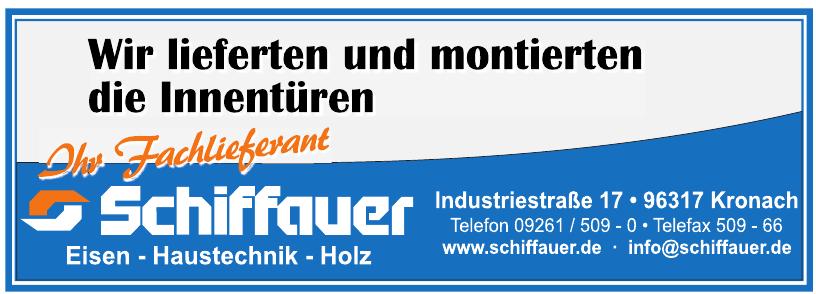Schiffauer Eisen - Haustechnik - Holz