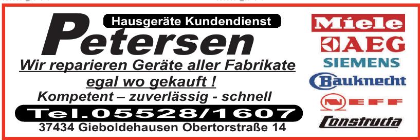 Hausgeräte Kundendienst Petersen