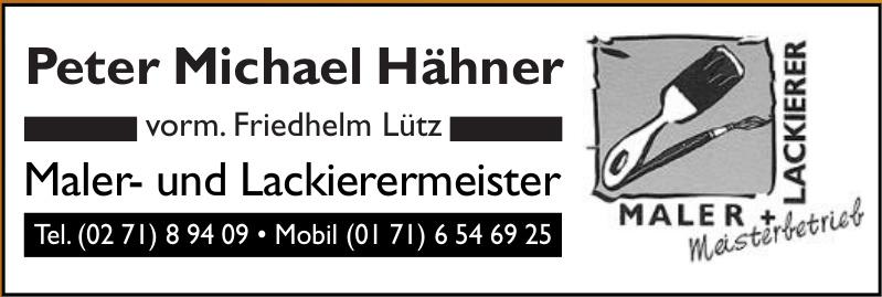 Peter Michael Hähner Maler- und Lackierermeister