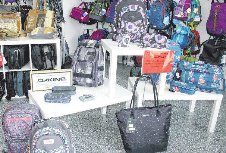 Taschen sowie Schul- und Reiserucksäcke der Marke Dakine gibt es bei MGM jetzt zu Schnäppchenpreisen.