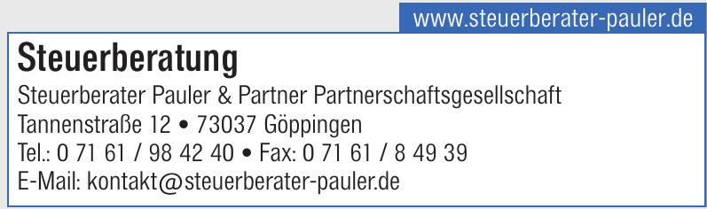Lohnsteuerberatung Steuerberater Pauler & Partner Partnerschaftsgesellschaft