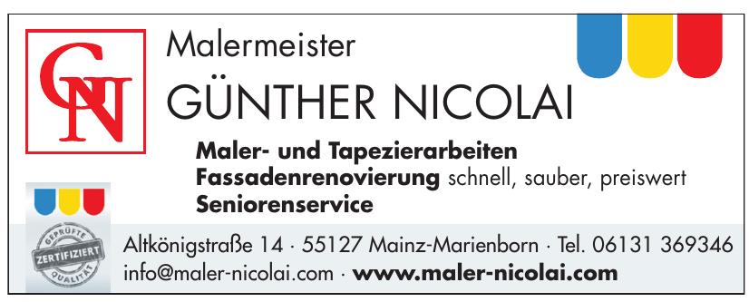 Malermeister Günther Nicolai