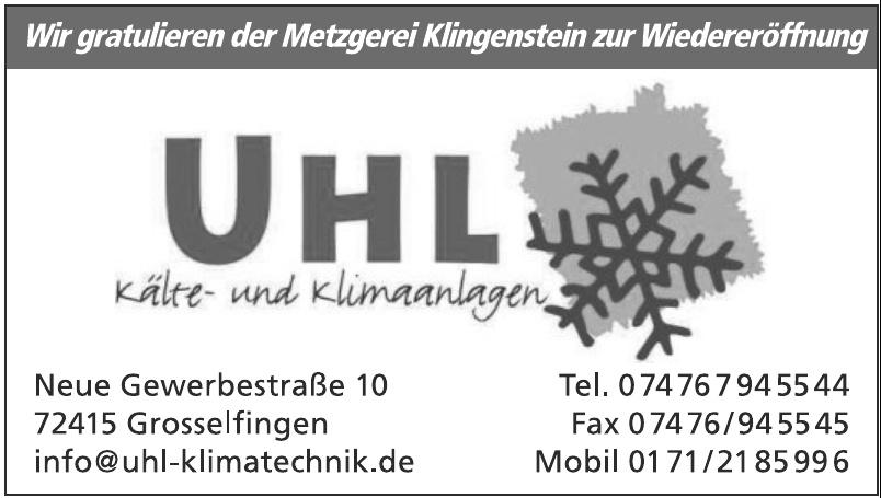 Jürgen Uhl Kälte- und Klimaanlagen