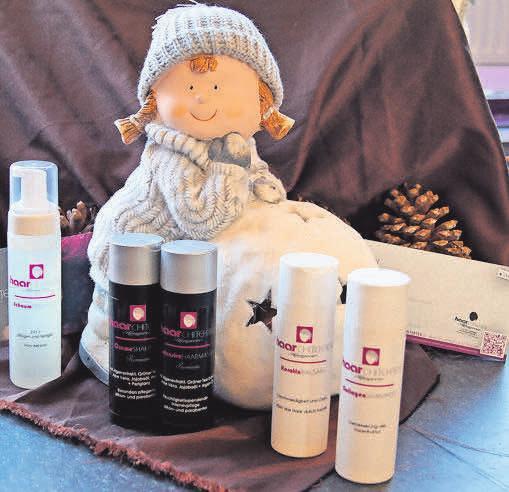 Schönheit verschenken: Die Haarchitekten empfehlen die Haarpflegeserie für zu Hause.