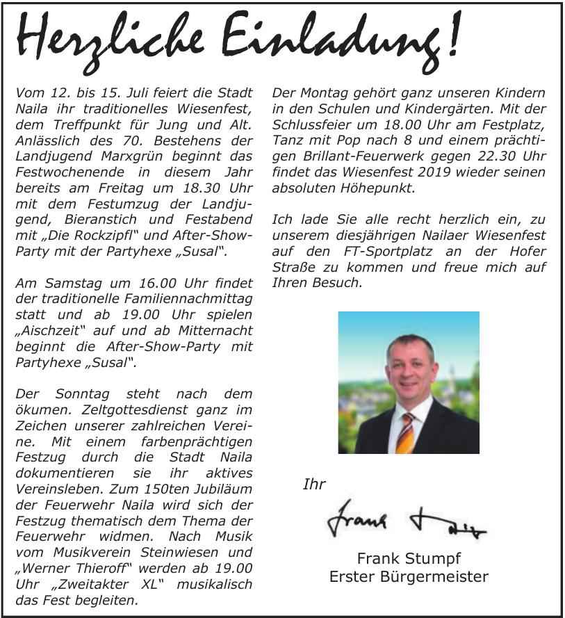 Frank Stumpf Erster Bürgermeister