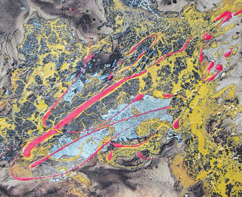 Werke von Angy C. in der Kunsthandlung Alstertal – im Farbrausch der Hinterglasmalerei