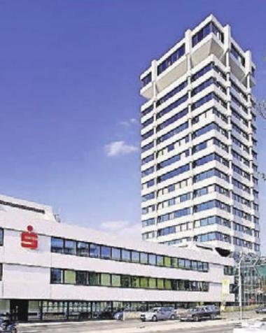 Das Hauptgebäude der Wuppertaler Sparkasse. Insgesamt gibt es 34 Filialen.