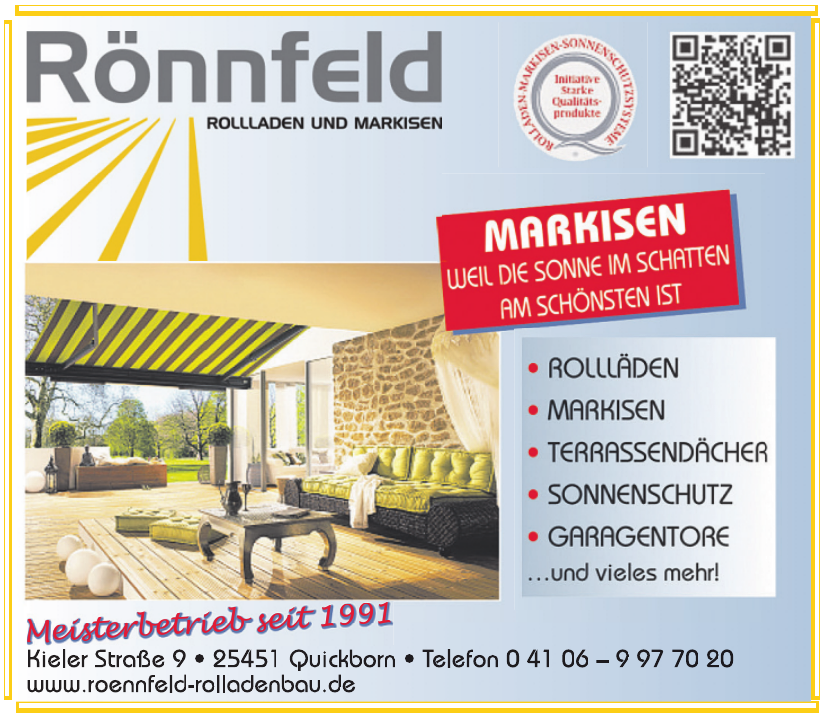 Rönnfeld Rolladen und Markisen