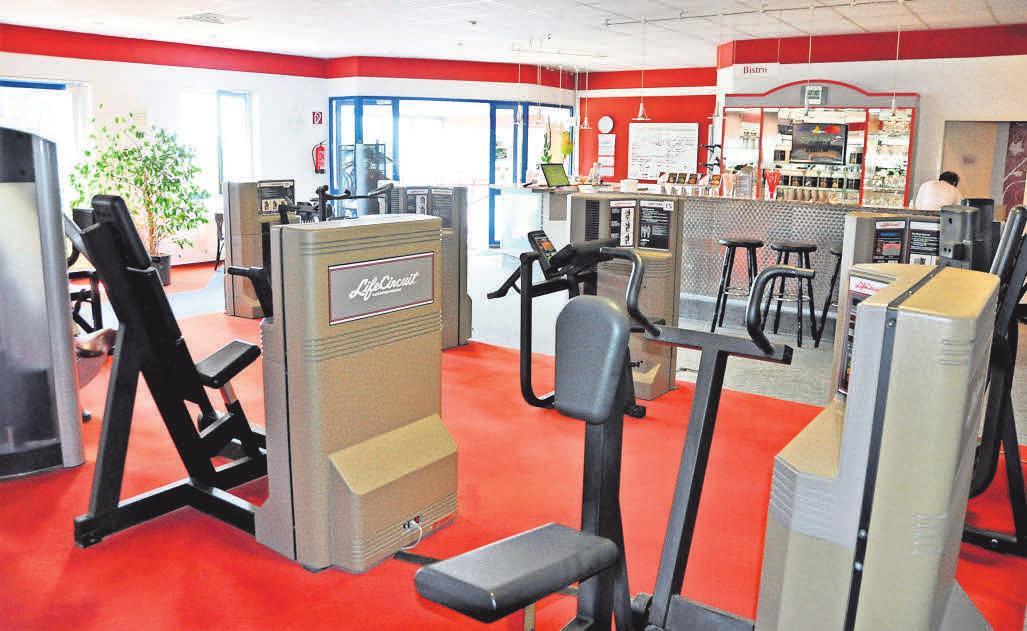 Der Fitnessbereich bietet individuelle Trainingsmöglichkeiten – auch für Hochleistungssportler.