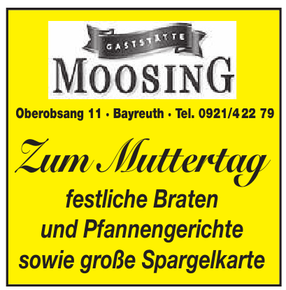 Gastätte Moosing
