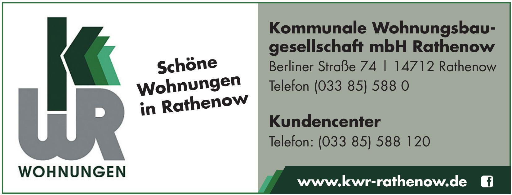 KWR Kommunale Wohnungsbaugesellschaft mbH Rathenow