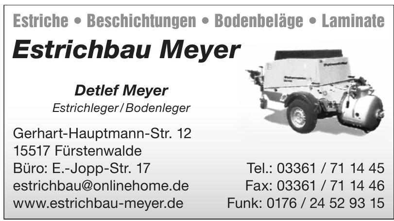 Estrichbau Meyer