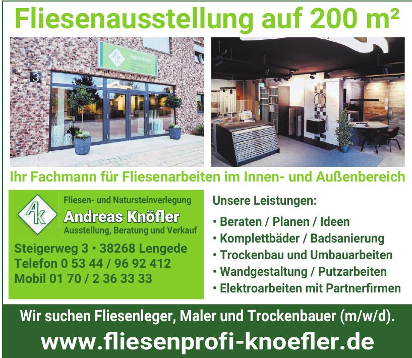 Fliesen- und Natursteinverlegung Andreas Knöfler