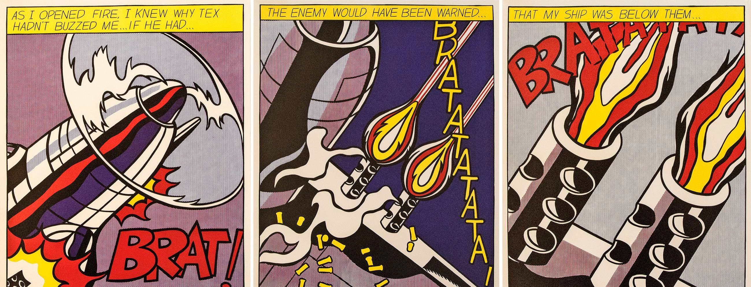 """Pop Art ist oftmals bunt und für den Betrachter greifbar. Hier beispielhaft """"As I opened fire"""" von Roy Lichtenstein. Foto: privat"""