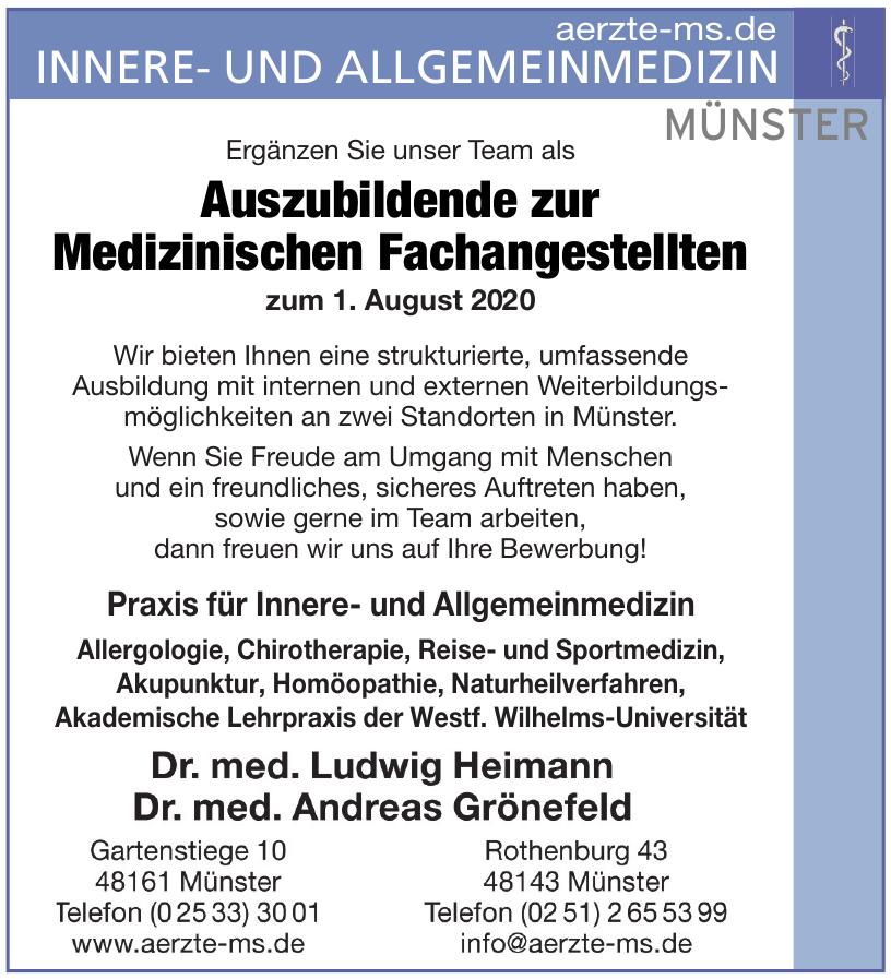 Gemeinschaftspraxis für Innere- und Allgemeinmedizin Dr. Heimann & Dr. Grönefeld