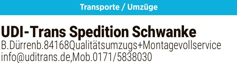 UDI - Trans Spedition Schwanke