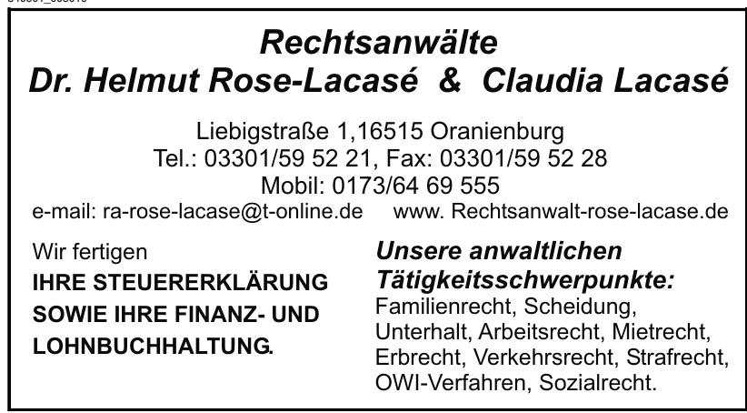 Rechtsanwälte Dr. Helmut Rose-Lacasé & Claudia Lacasé