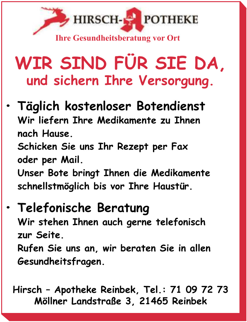Hirsch – Apotheke Reinbek