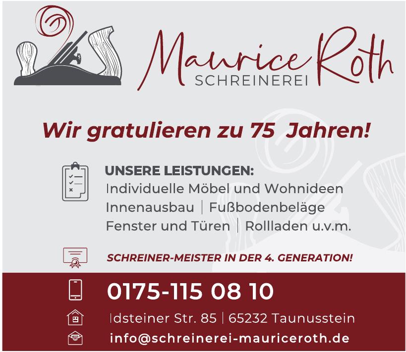 Schreinerei Maurice Roth