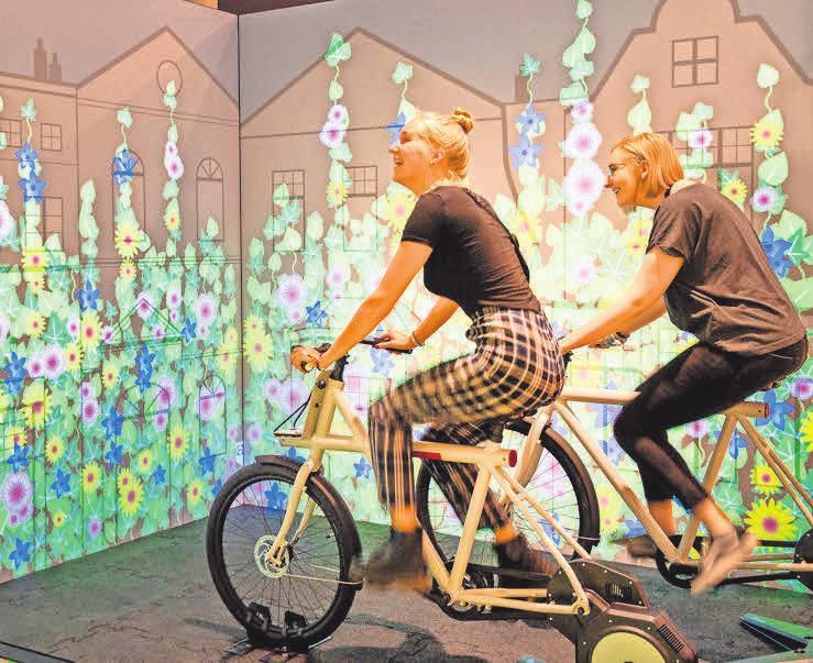 """In der Sonderausstellung """"Der mobile Mensch – Deine Wege. Deine Entscheidungen. Deine Zukunft."""" dreht sich alles um die Zukunft der Mobilität."""