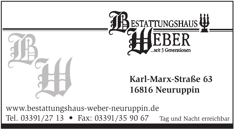 Bestattungshaus Weber