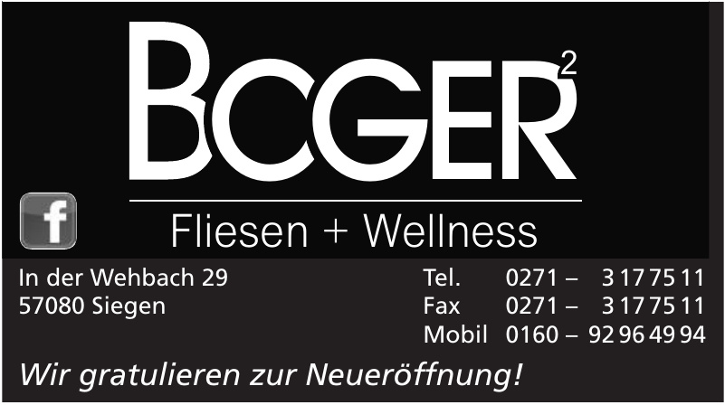 Boger Fliesen + Wellness