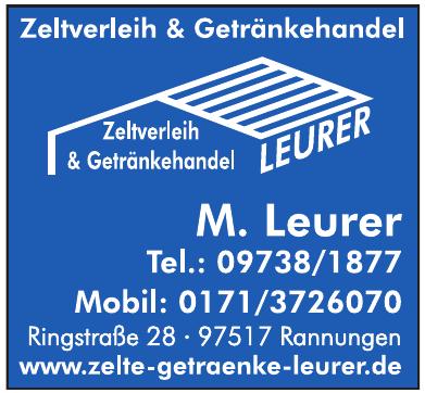 Zeltverleih & Getränkehandel Leurer