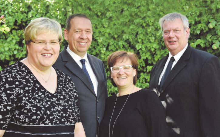 Katharina und Torsten Kuhn, Melanie Rust und Michael Henze (v. l.)