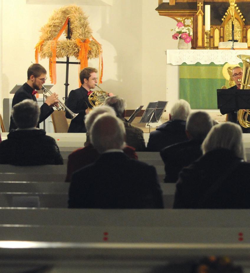 Konzert kurz vorm Lockdown: In der Leiferder Kirche konnten im November 2020 die Musiker von Magenta Brass auftreten. Foto: Chris Niebuhr / Archiv