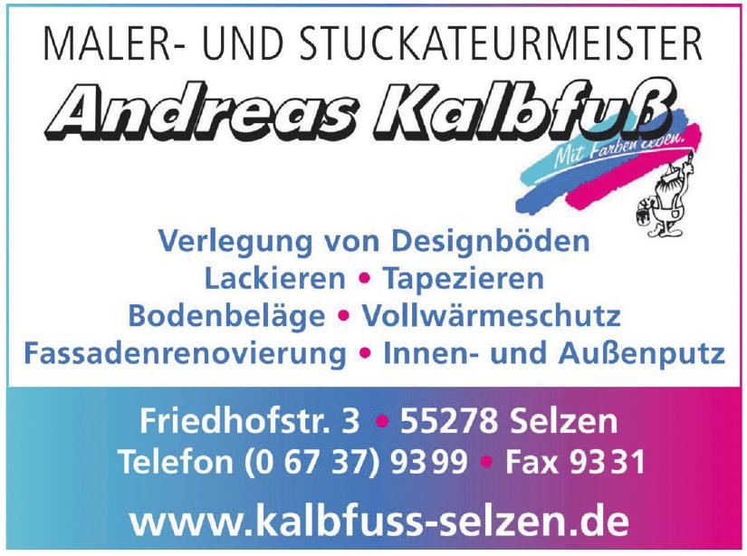 Maler- und Stuckateurmeister Andreas Kalbfuß
