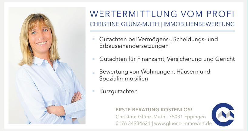 Wertemittlung vom Profi - Christine Glünz-Muth, Immobilinebewertung