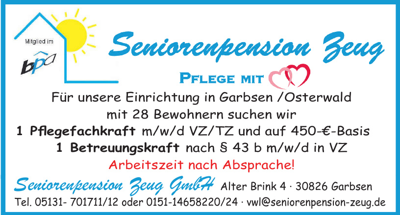 Seniorenpension Zeug GmbH