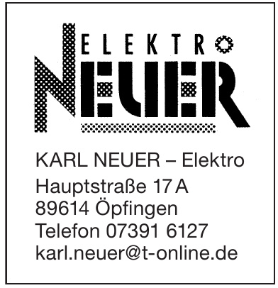 KARL NEUER – Elektro