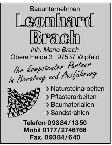 Bauunternehmen Leonhard Brach
