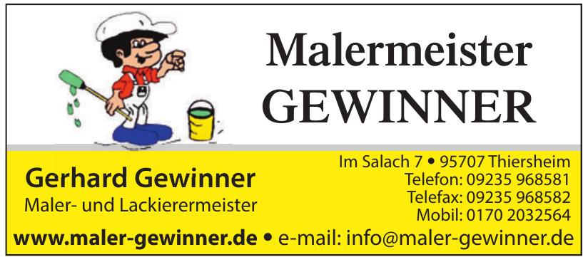Gerhard Gewinner Maler- und Lackierermeister