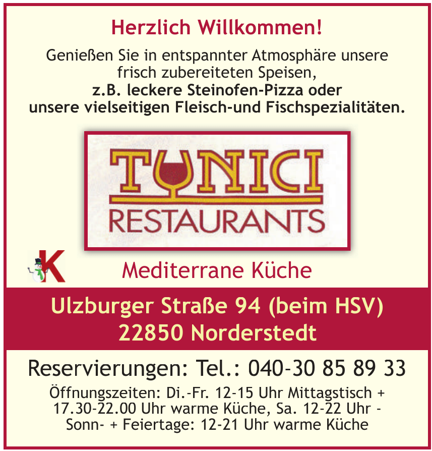Tunici Restaurants