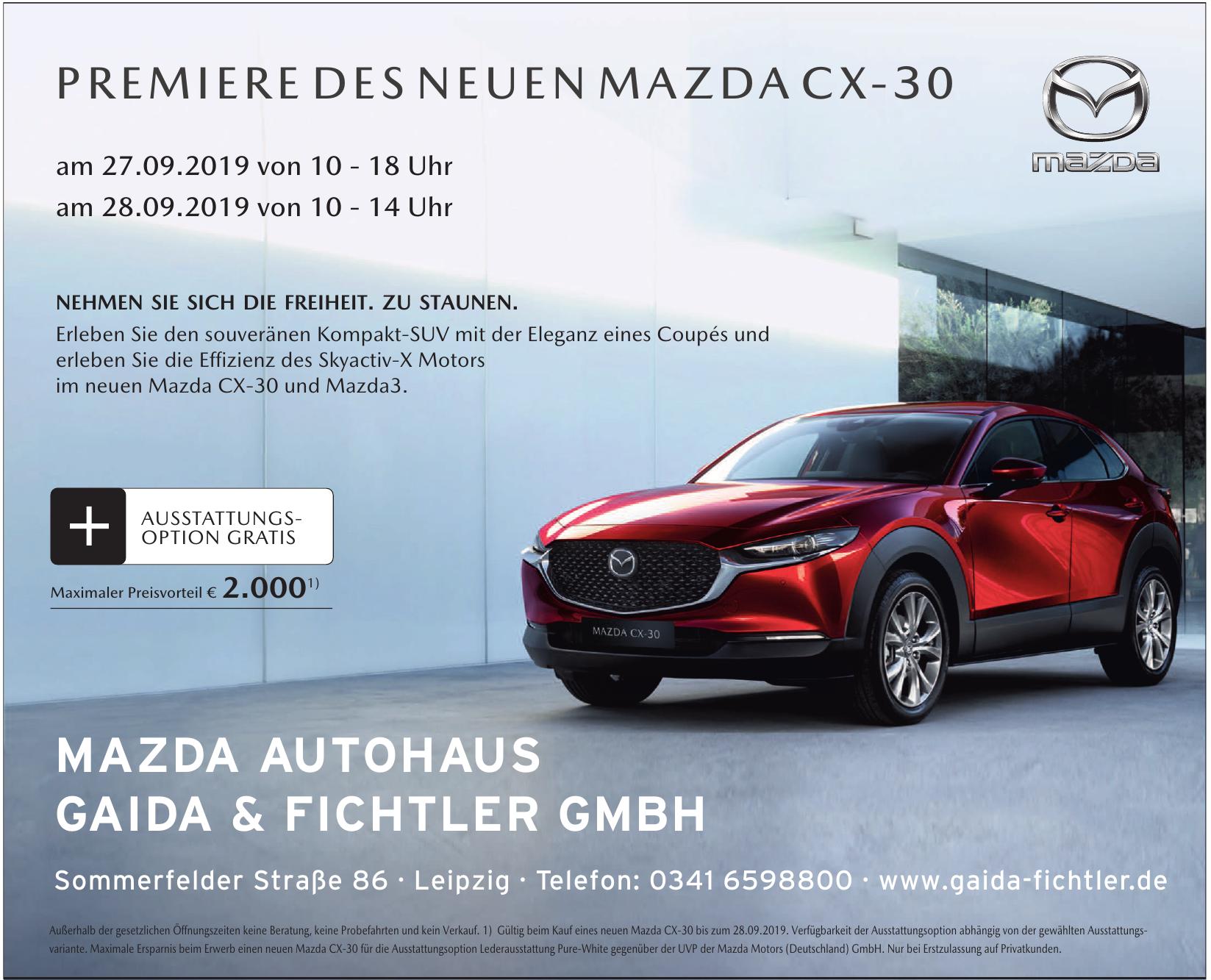 Mazda Autohaus Gaida & Fichtler GmbH