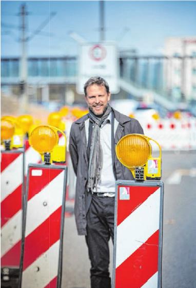 Tim von Winning mitten in der Baustelle.Foto: Volkmar Könneke