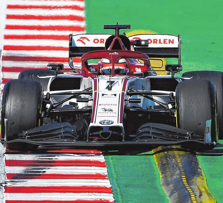 """Der Finne Kimi Räikkönen, in der Branche auch als """"Iceman"""" bekannt, geht auch in dieser Saison für Alfa Romeo auf Punktejagd. Foto: afp"""