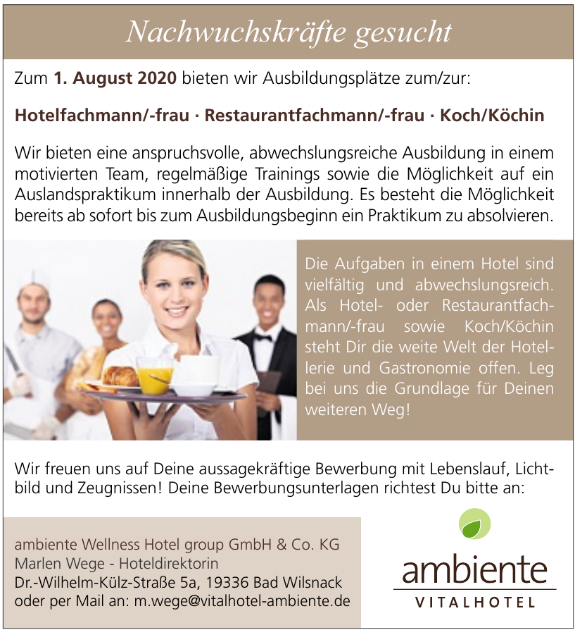ambiente Wellness Hotel group GmbH & Co. KG