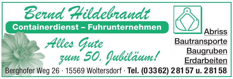 Bernd Hildebrandt Containerdienst – Fuhrunternehmen