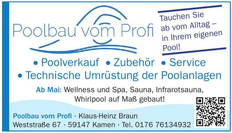 Poolbau vom Profi – Klaus-Heinz Braun