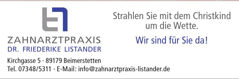 Zahnpraxis Dr. Friederike Listander