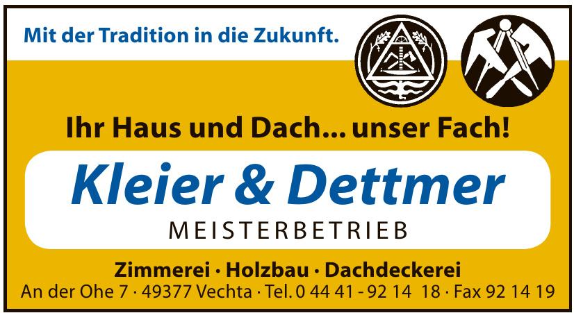 Kleier & Dettmer Zimmerei · Holzbau · Dachdeckerei